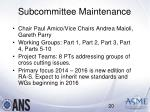subcommittee maintenance