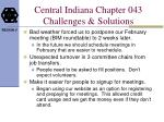 central indiana chapter 043 challenges solutions