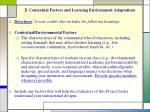 2 contextual factors and learning environment adaptations