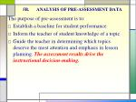 5b analysis of pre assessment data
