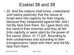 ezekiel 38 and 3917