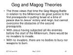 gog and magog theories21