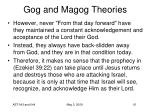 gog and magog theories37