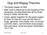 gog and magog theories55