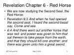 revelation chapter 6 red horse