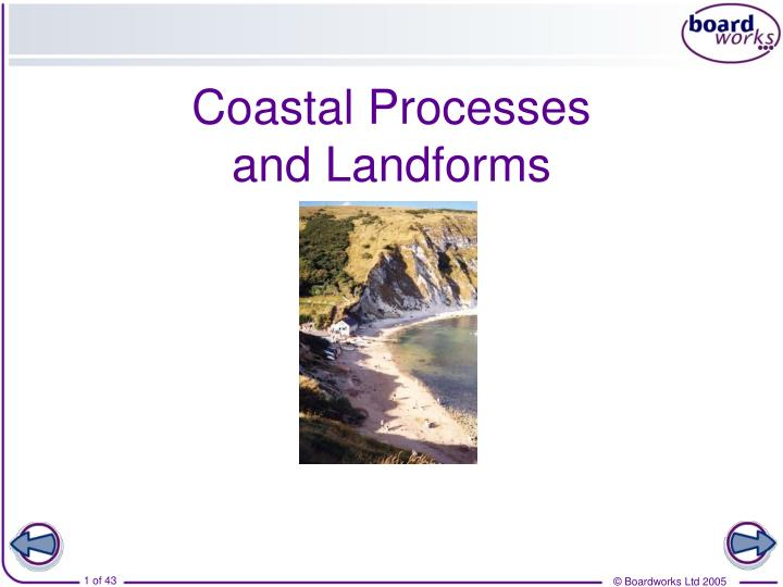 coastal processes and landforms n.