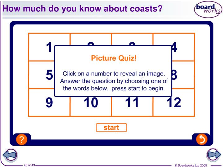 How much do you know about coasts?