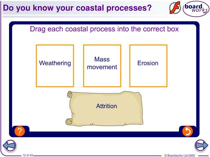 Do you know your coastal processes?