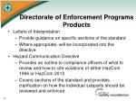 directorate of enforcement programs products