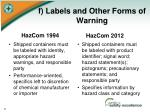 f labels and other forms of warning