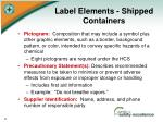 label elements shipped containers1