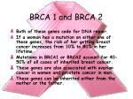 brca 1 and brca 2
