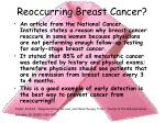 reoccurring breast cancer
