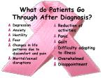 what do patients go through after diagnosis