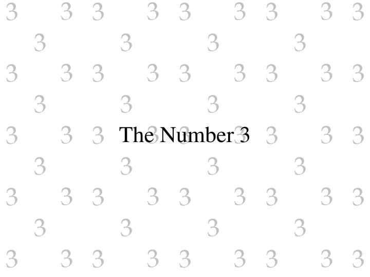 the number 3 n.