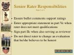 senior rater responsibilities slide 2 of 2