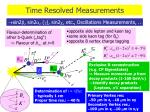 time resolved measurements
