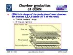 chamber production at cern