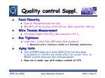 quality control suppl