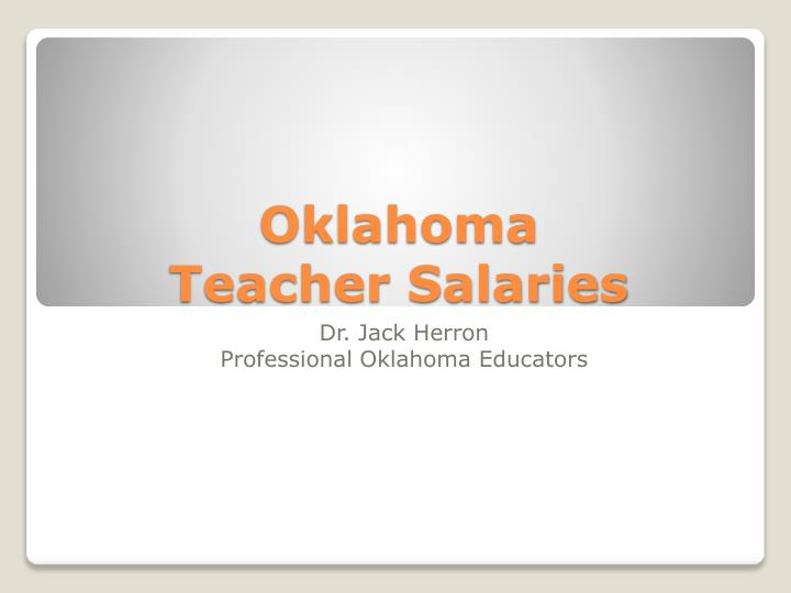 oklahoma teacher salaries n.