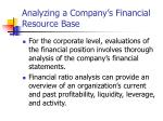 analyzing a company s financial resource base