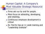 human capital a company s most valuable strategic resource