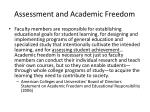 assessment and academic freedom