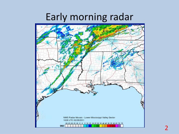 Early morning radar