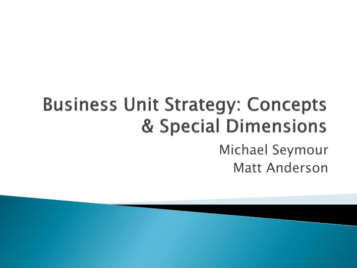 business unit strategy concepts special dimensions n.