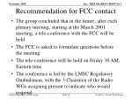 recommendation for fcc contact