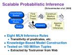 scalable probabilistic inference