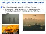 the kyoto protocol seeks to limit emissions