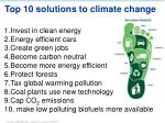top 10 solutions to climate change