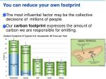 you can reduce your own footprint
