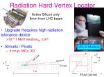 radiation hard vertex locator