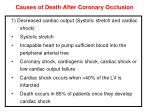 causes of death after coronary occlusion1