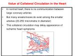value of collateral circulation in the heart