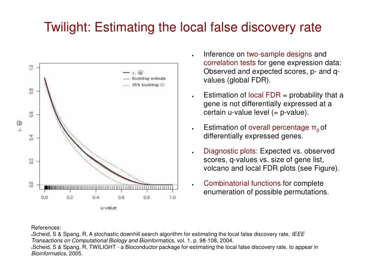 twilight estimating the local false discovery rate n.