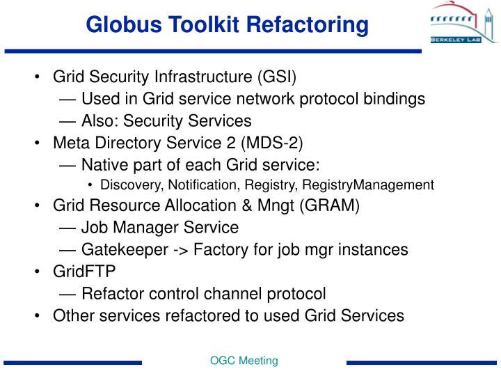 Globus Toolkit Refactoring