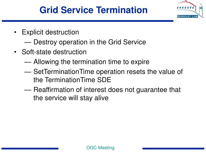 Grid Service Termination