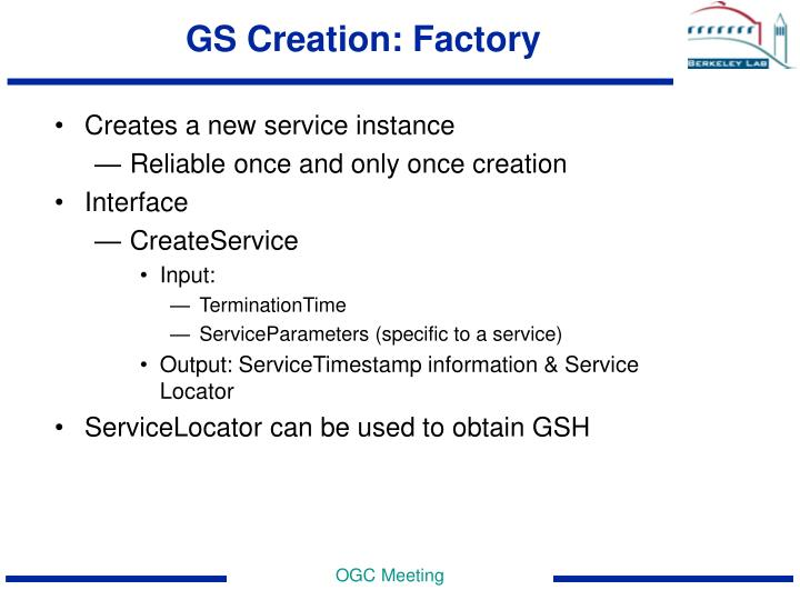 GS Creation: Factory