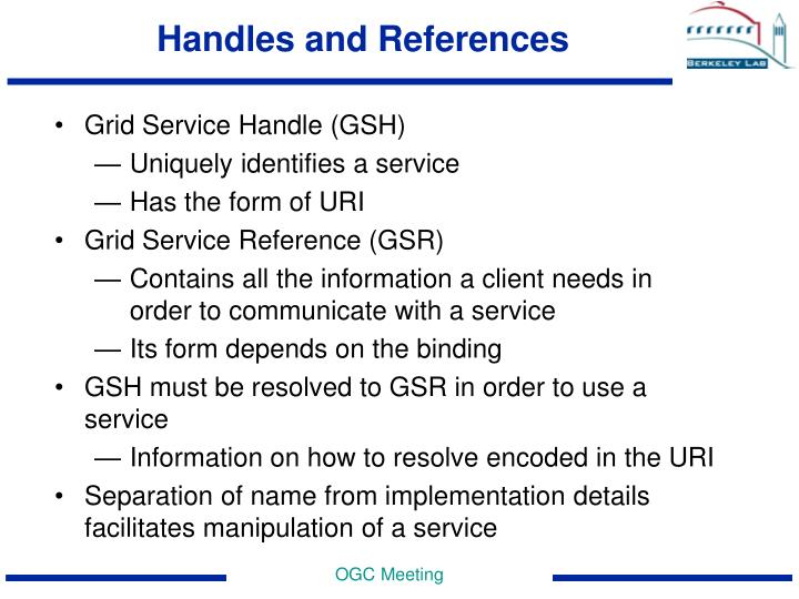 Handles and References