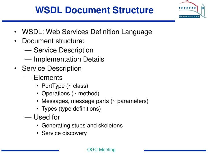WSDL Document Structure