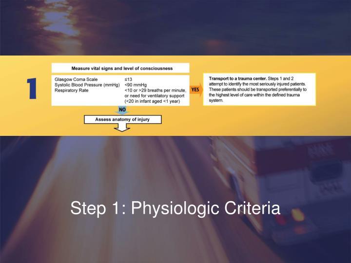 Step 1: Physiologic Criteria