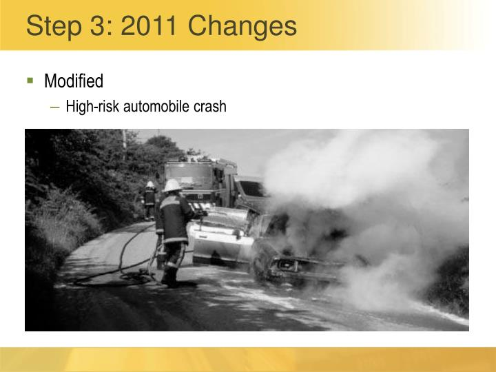Step 3: 2011 Changes