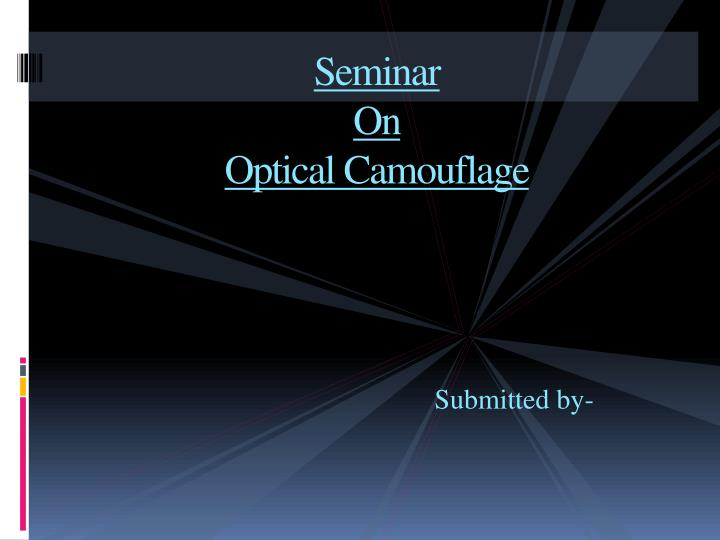 seminar on optical camouflage n.