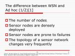 the difference between wsn and ad hoc 1 2 1
