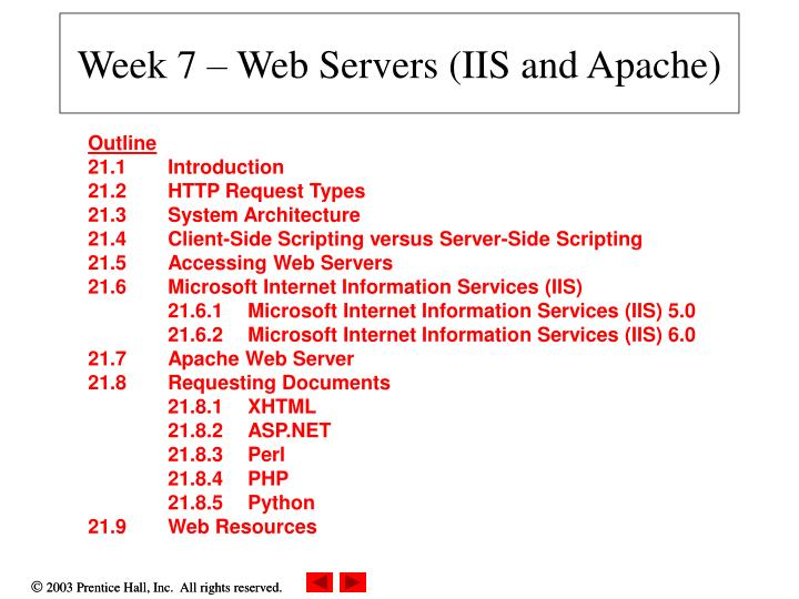 week 7 web servers iis and apache n.