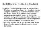 digital tools for feedback e feedback