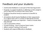 feedback and your students
